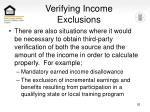 verifying income exclusions92