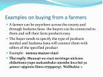 examples on buying from a farmers