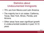 statistics about undocumented immigrants