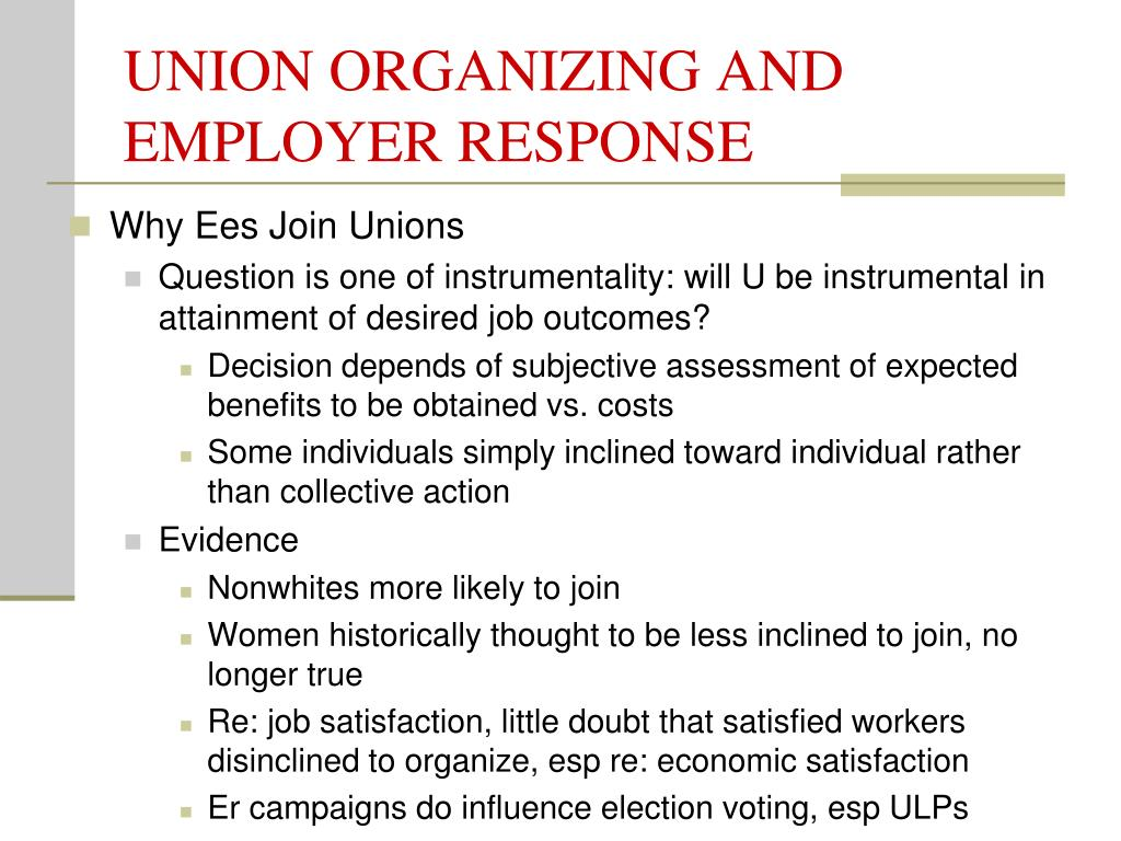 union organizing and employer response l.