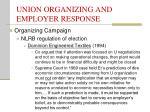 union organizing and employer response18