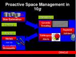 proactive space management in 10 g