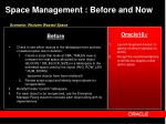space management before and now