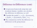 difference in differences cont