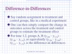 difference in differences