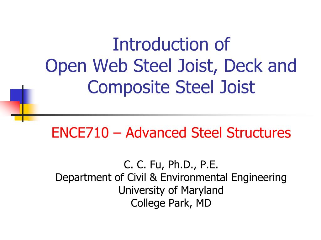 introduction of open web steel joist deck and composite steel joist l.