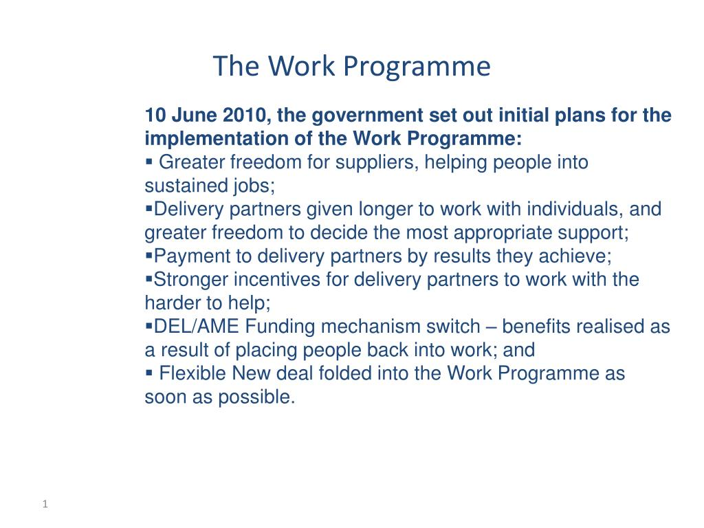 the work programme l.
