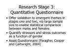 research stage 3 quantitative questionnaire