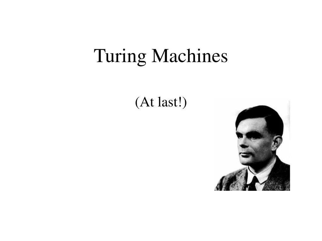 turing machines l.