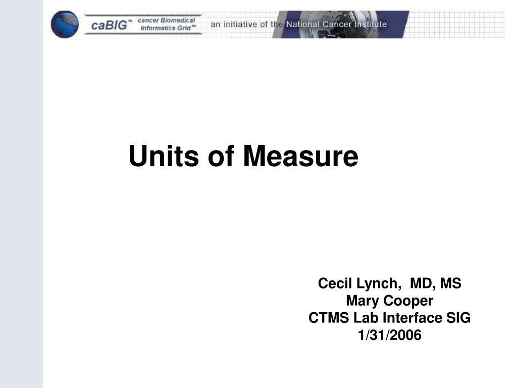 units of measure l.