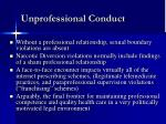 unprofessional conduct12