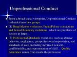 unprofessional conduct7