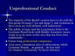 unprofessional conduct8