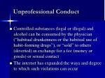 unprofessional conduct9