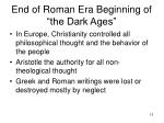 end of roman era beginning of the dark ages