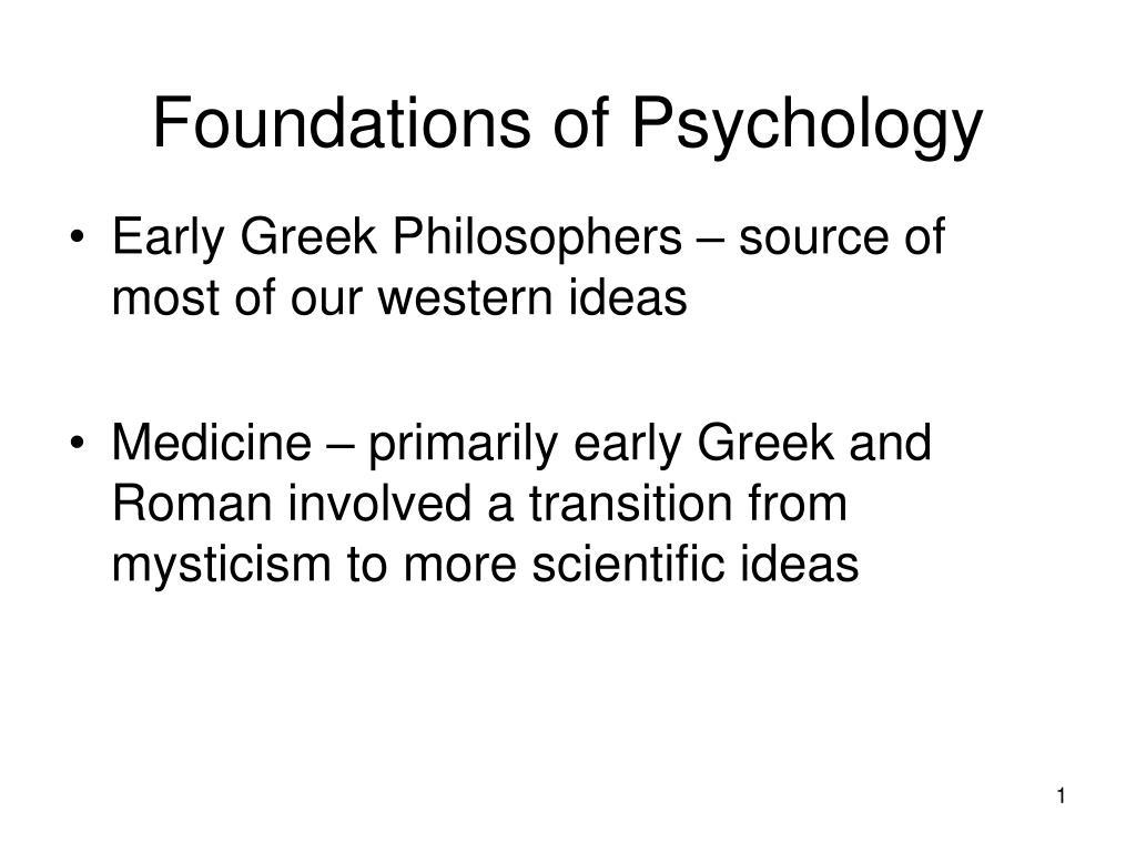 foundations of psychology l.