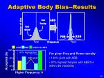 adaptive body bias results
