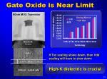 gate oxide is near limit