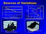 sources of variations