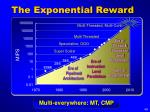 the exponential reward