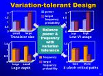variation tolerant design