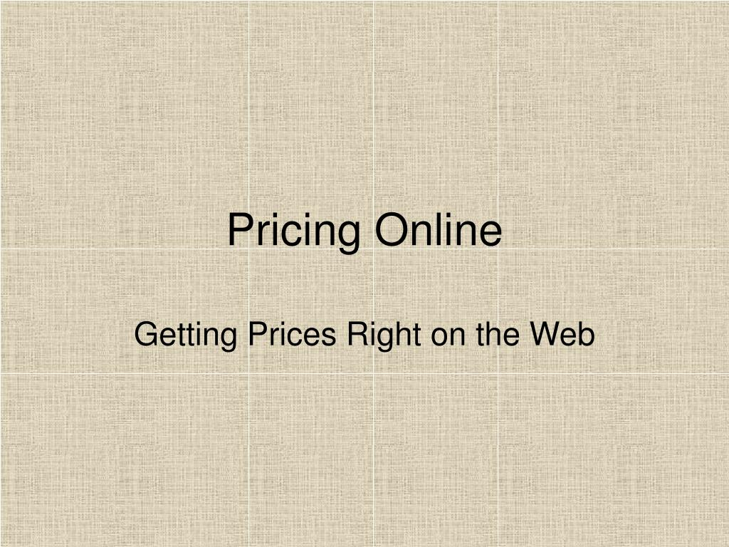 pricing online l.