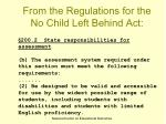 from the regulations for the no child left behind act