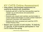 ky cats online assessment