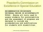 president s commission on excellence in special education10