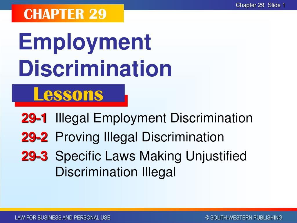 employment discrimination l.