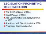 legislation prohibiting discrimination