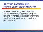 proving pattern and practice of discrimination