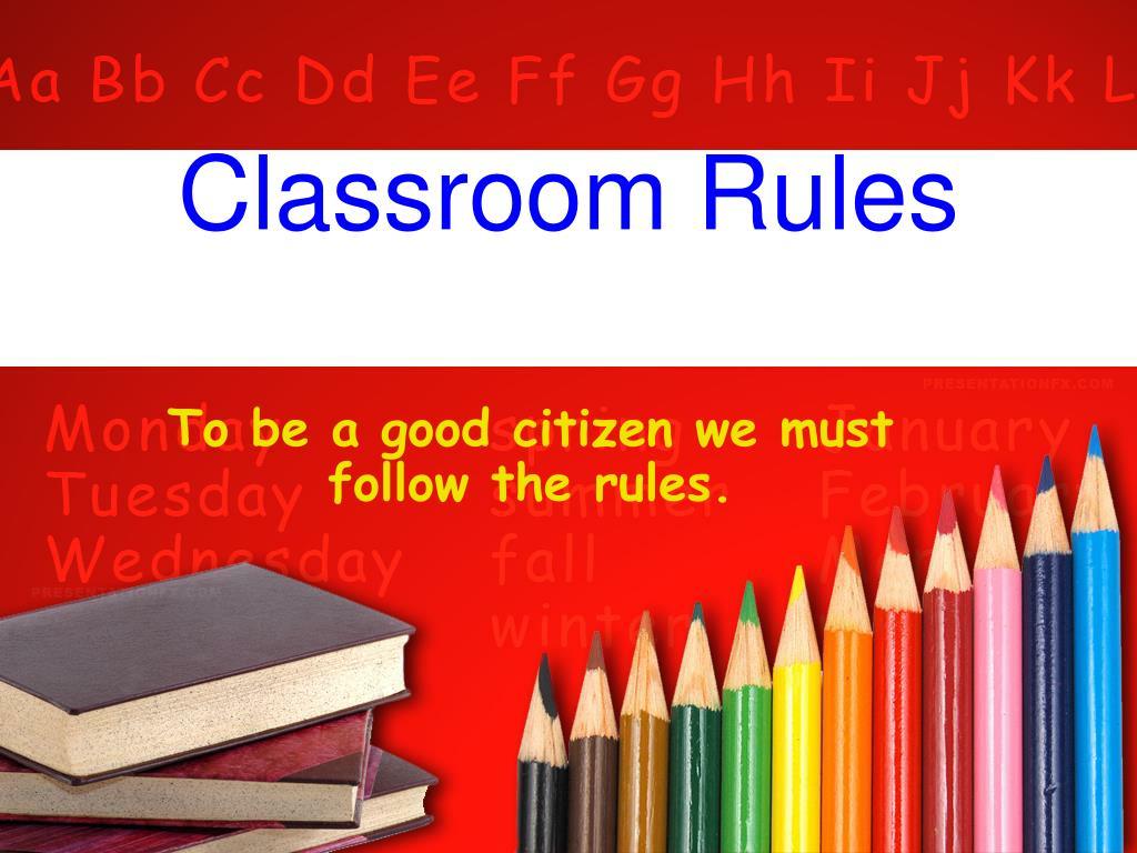 classroom rules l.