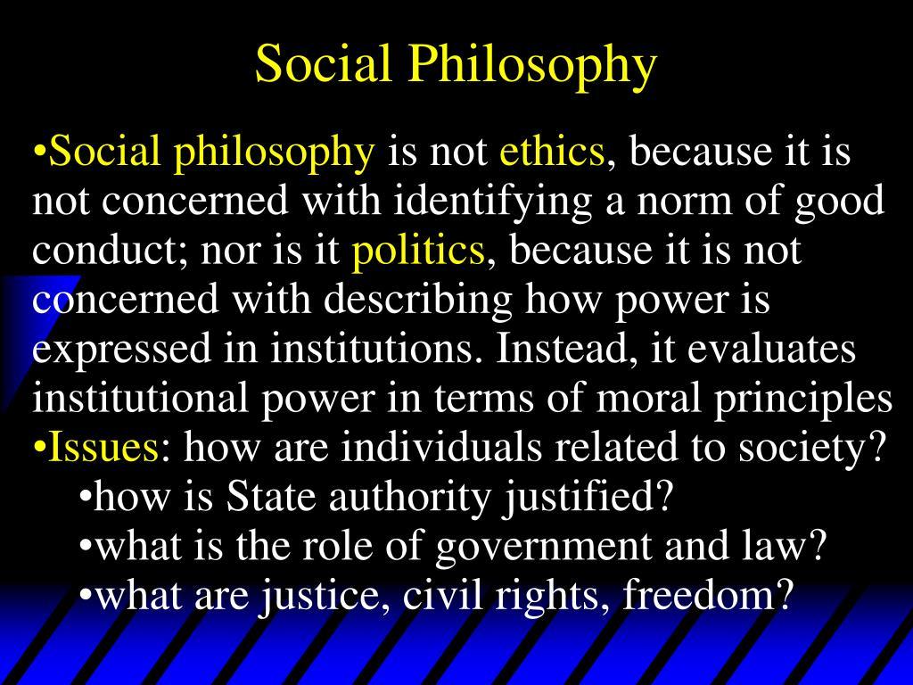 social philosophy l.