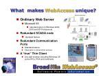 what makes webaccess unique6