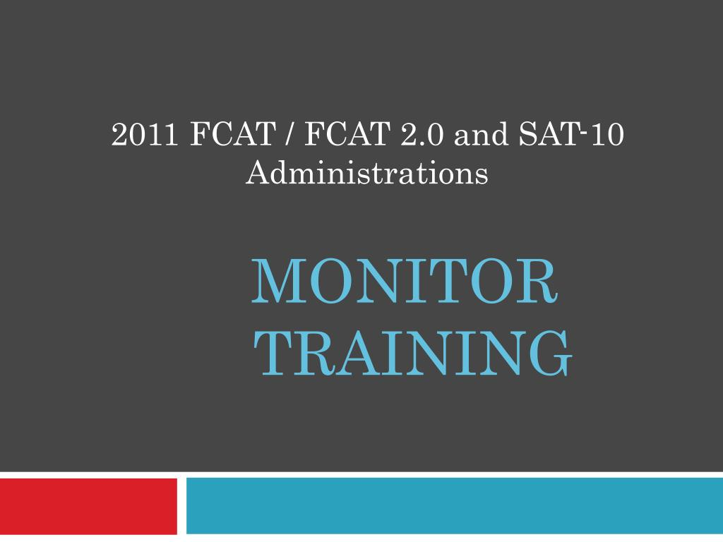 monitor training l.