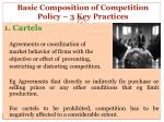 basic composition of competition policy 3 key practices