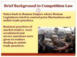 brief background to competition law