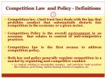 competition law and policy definitions