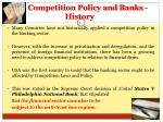 competition policy and banks history