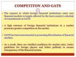 competiton and gats