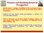 finance and banking sector in perspective