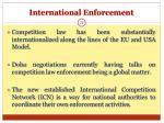 international enforcement