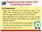 regulations used to deter anti competitive practices16