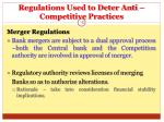 regulations used to deter anti competitive practices18