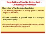 regulations used to deter anti competitive practices19