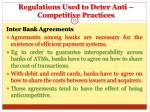 regulations used to deter anti competitive practices20