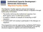 institutional capacity development democratic governance migration facility 25m