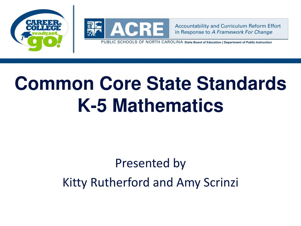 common core state standards k 5 mathematics l.