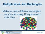 multiplication and rectangles